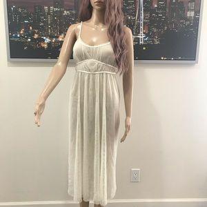 Vera Wang cream see through slip dress